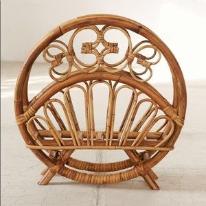 Urban Outfitters Rattan Magazine Holder